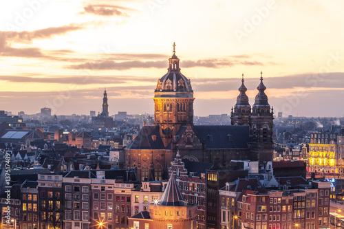 Poster Amsterdam Basilica of Saint Nicholas