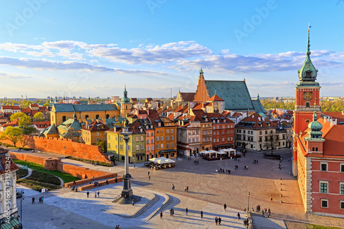 Top view of the old city in Warsaw. HDR - high dynamic range