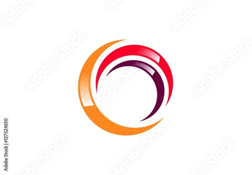 sphere elements swirl logo abstract global red spiral symbol twist