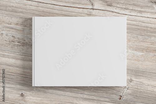 Fotografering  Blank book cover isolated on background