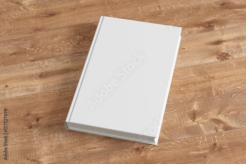 Fototapeta  Blank book cover isolated on background