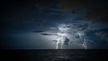 Lightning Over Ocean