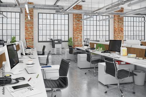 Fotografie, Obraz  Großraumbüro - Bürogebäude - Bürofläche - Gewerbefläche - Immobilie