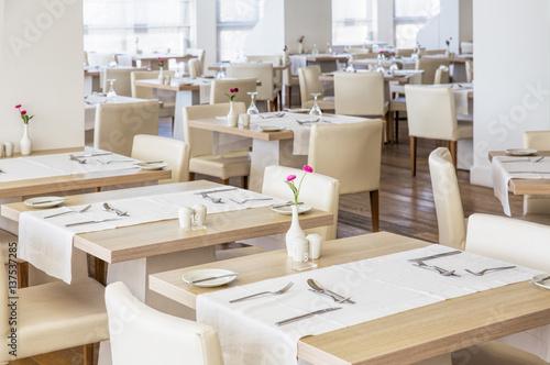 Fotobehang Restaurant Hall of the restaurant