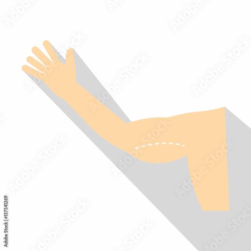 Obraz na plátne  Plastic surgery of arm icon, flat style