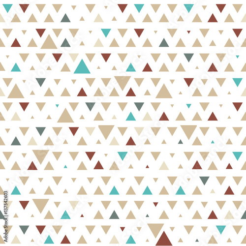 obraz dibond Abstract hipster polygon triangle background. Seamless Triangle pattern