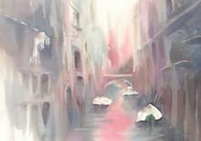Gondolas In Venice Morning Wat...