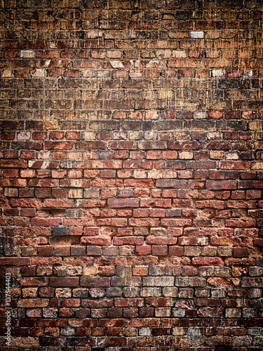 Vintage brick wall background texture for design Canvas Print