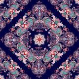 Muster mit indischen Motiven - 137545254