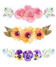 Three Beautiful Flower Waterco...