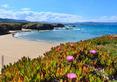 Fotografia  Atlantic sandy Islas beach (Spain).