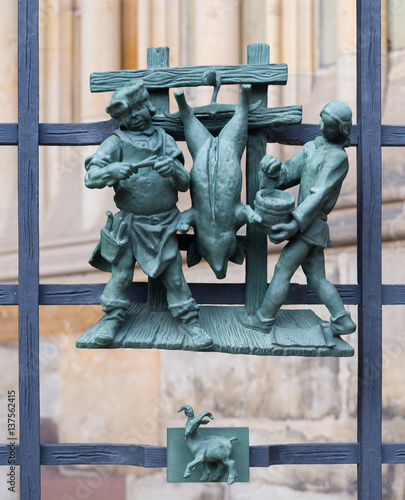 Pagan Symbols Of The Zodiac On The Golden Gate St Vitus Cathedral