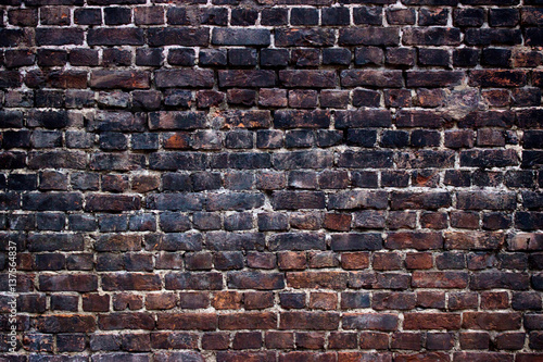 Fotografia  background black walls, dark brick texture for design