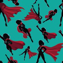 Seamless Super Hero Women Desi...