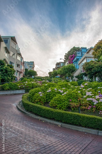 Vászonkép  Lombard Street in San Francisco, California