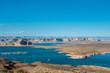 Marina in Powell Lake, Arizona, USA