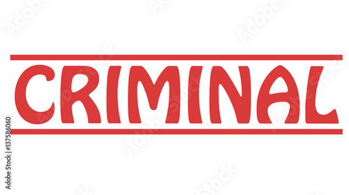 Photo  Stamp with word criminal inside