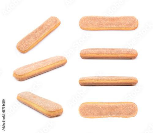 Foto Ladyfinger savoiardi biscuit composition