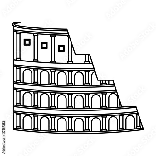 Photo  rome coliseum isolated icon vector illustration design