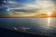 İskelede Durgun denizde Gün Batımı