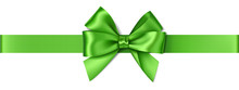 Vector Green Bow With Horizont...