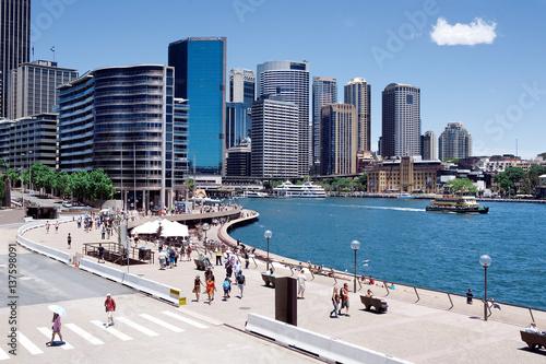 Leinwand Poster Circular Quay area, heart of the CBD  of Sydney