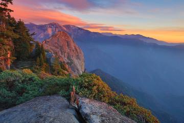 Tiho jutro u kanjonu kraljeva Sequoia s negativnim prostorom