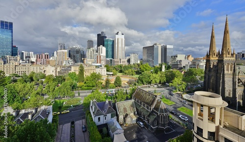 Skyline view of the Melbourne Central Business District