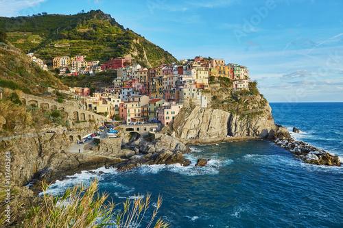 Fototapety, obrazy: View of Manarola, Cinque Terre, Liguria, Italy