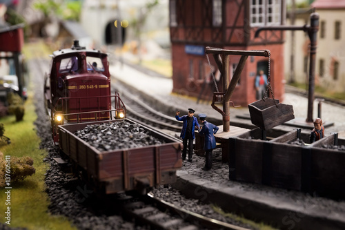 Zdjęcie XXL Miniaturę kolejową