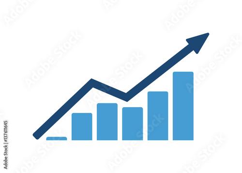 Vector growing Diagram - fototapety na wymiar