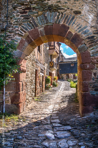 Fotomural Ruelle de Conques, Aveyron