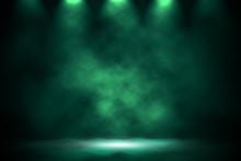 Spotlight Green Smoke Design Background.