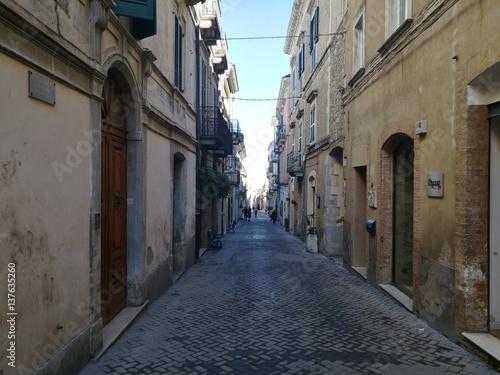 Acrylic Prints Narrow alley guardiagrele in abruzzi