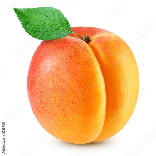Photo apricot fruits isolated