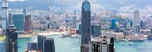 Hong Kong City Panorama, Looking From Victoria Peak.