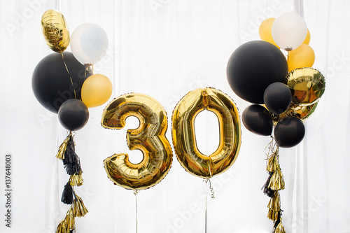 Fotografia  Decoration for 30 years birthday, anniversary