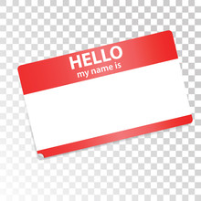 Hello, My Name Is. Red-white S...
