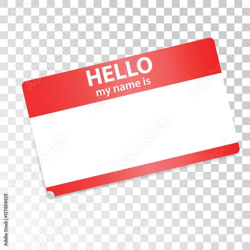 Fotografía  Hello, my name is