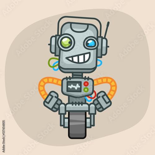Fotografia, Obraz  Robot Holding Hands on Waist
