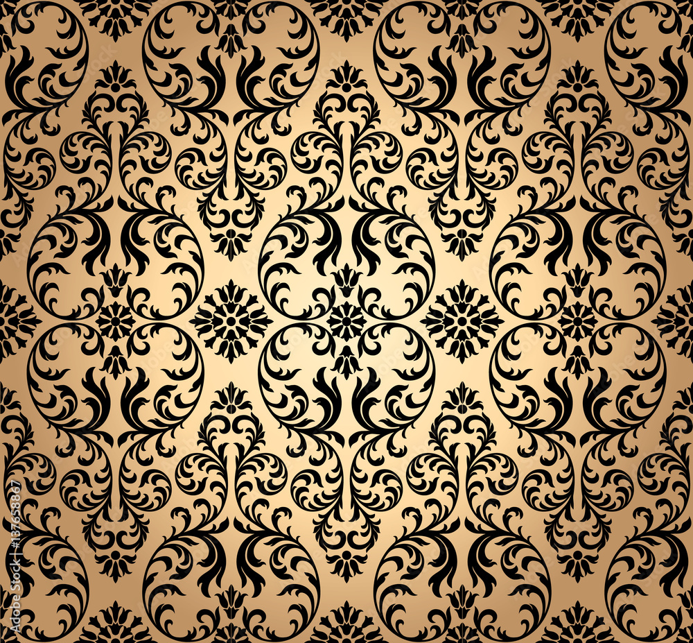 Luxury old fashioned damask ornament, royal victorian seamless texture for wallpapers, textile, wrapping. Exquisite floral baroque template.