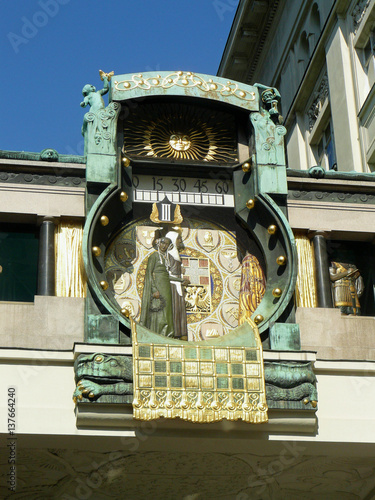 Photo  Ankeruhr , Famous Viennese clock