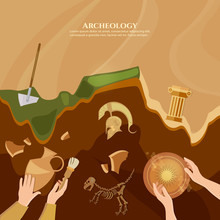 Archaeological Excavation Of Ancient Ruins, Ancient History Achaeologists Unearth Artifacts