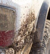 dirt on the cars SUV