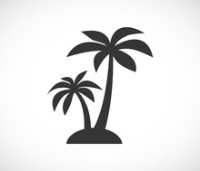 Palm Tree Island Icon