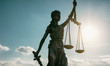 Leinwanddruck Bild - Justice law symbol Statue of justice