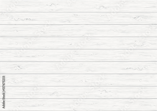 Wallpaper Mural White wood plank texture background