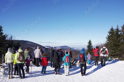 Foto op Aluminium Winter in the mountains Moravian-Silesian Region