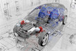 Transparent model cars