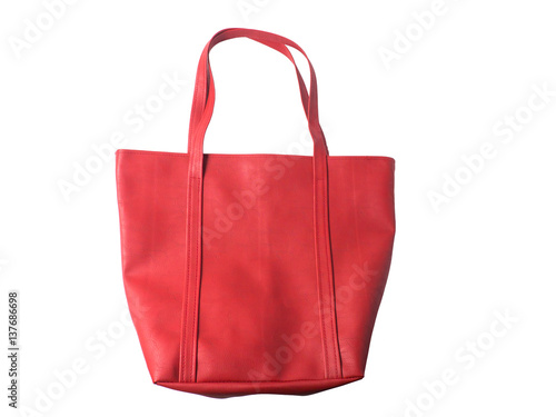 66f589ec3d996 Red women bag isolated on white background.. - Buy this stock photo ...